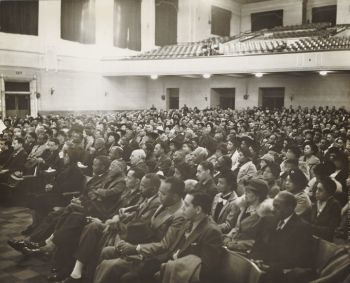 Mass Meeting, Brotherhood of Sleeping Car Porters, Chicago, 1933