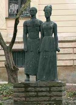 Anton Wilhelm Amo Statue at the University of Halle, Germany