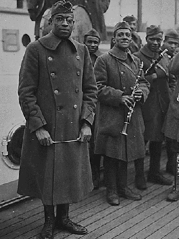 James Reese Europe and Band Members, 1918
