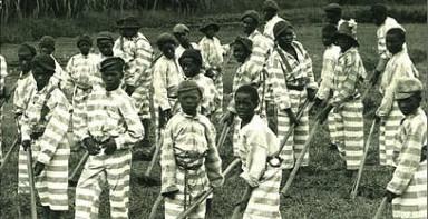 Black Children on Chain Gang, ca. 1900.