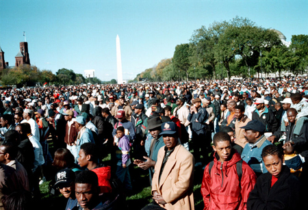 African American Men on the Mall in Washington D.C. During the Million Man March