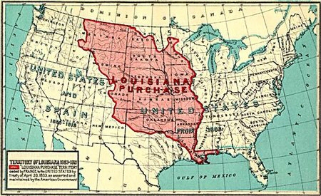 Map Of Louisiana Territory.Louisiana Purchase And African Americans 1803 Blackpast