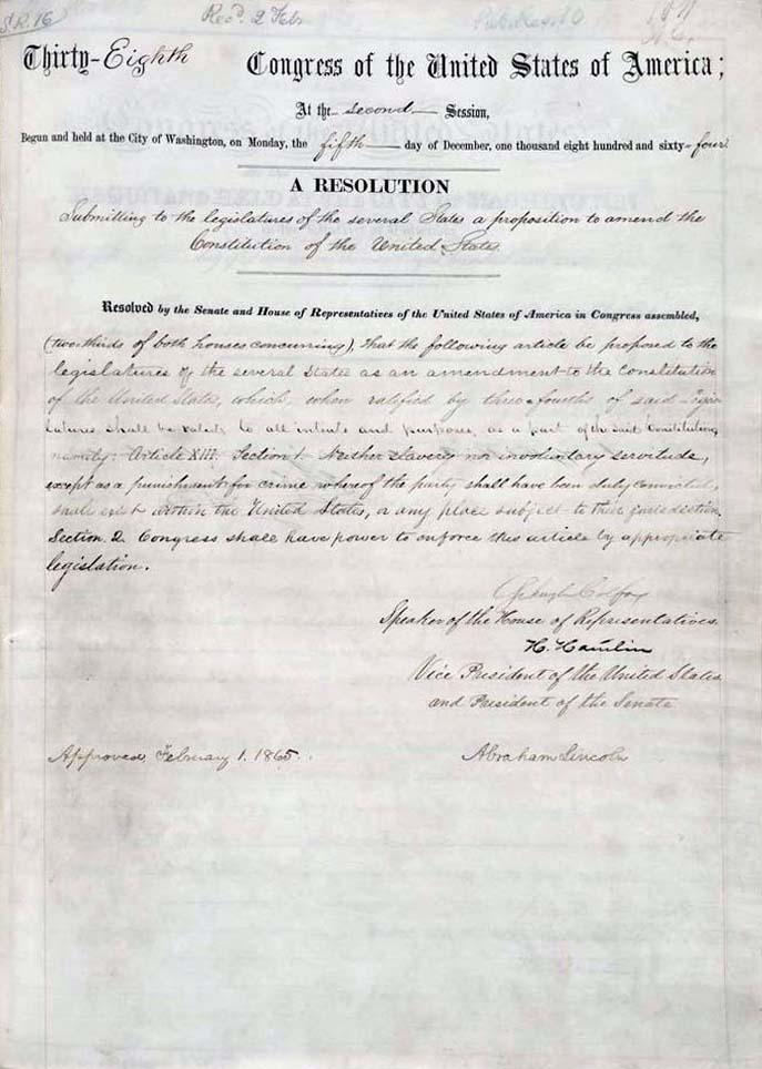 Reconstruction Amendments • BlackPast