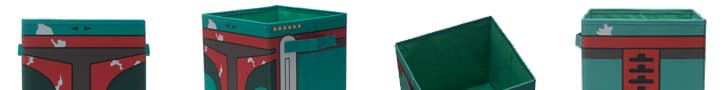 "Perfect for your ""bounty?"" Boba Fett storage bins, on sale on Amazon."