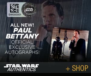 Paul Bettany as Dryden Vos Autographs at Star Wars Authentics