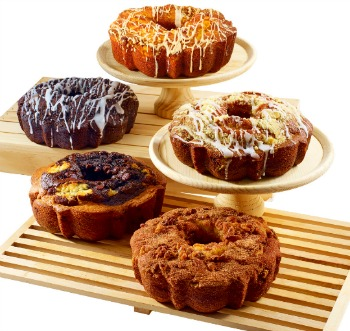 Three Gourmet Coffee Cakes
