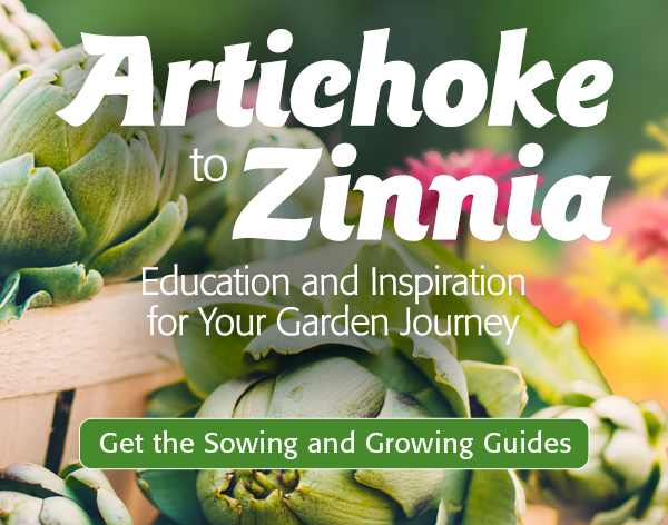 Mobile - Artichoke to Zinnia - Education and Inspiration for Your Garden Journey - Get the Sowing and Growing Guides