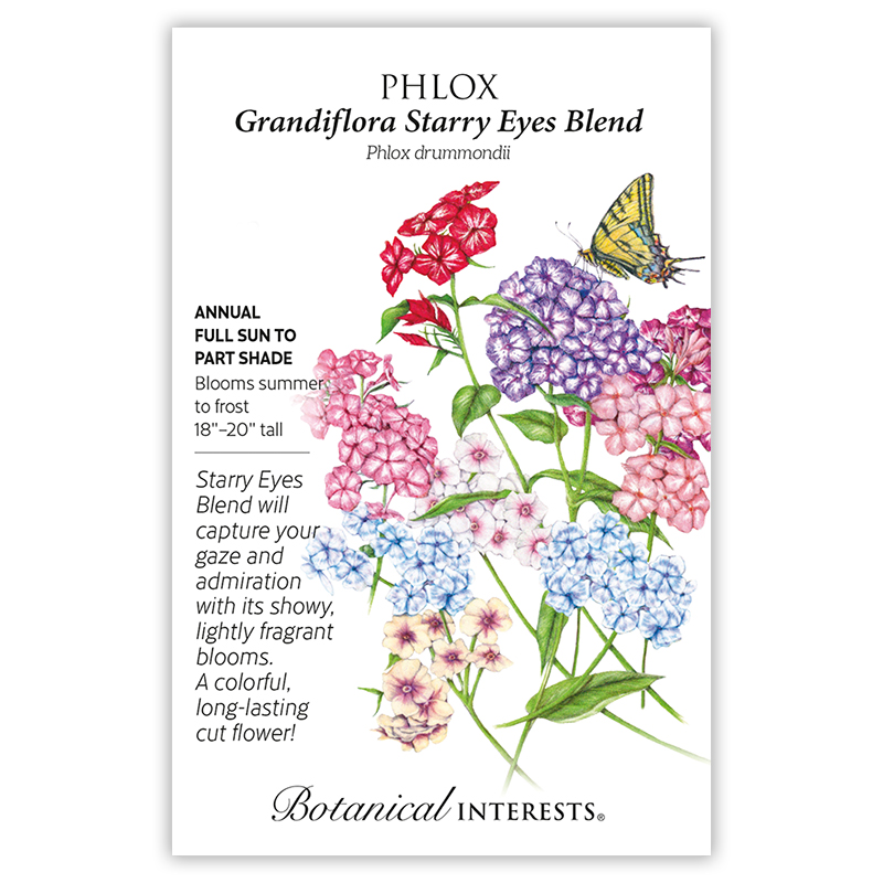 Grandiflora Starry Eyes Blend Phlox Seeds