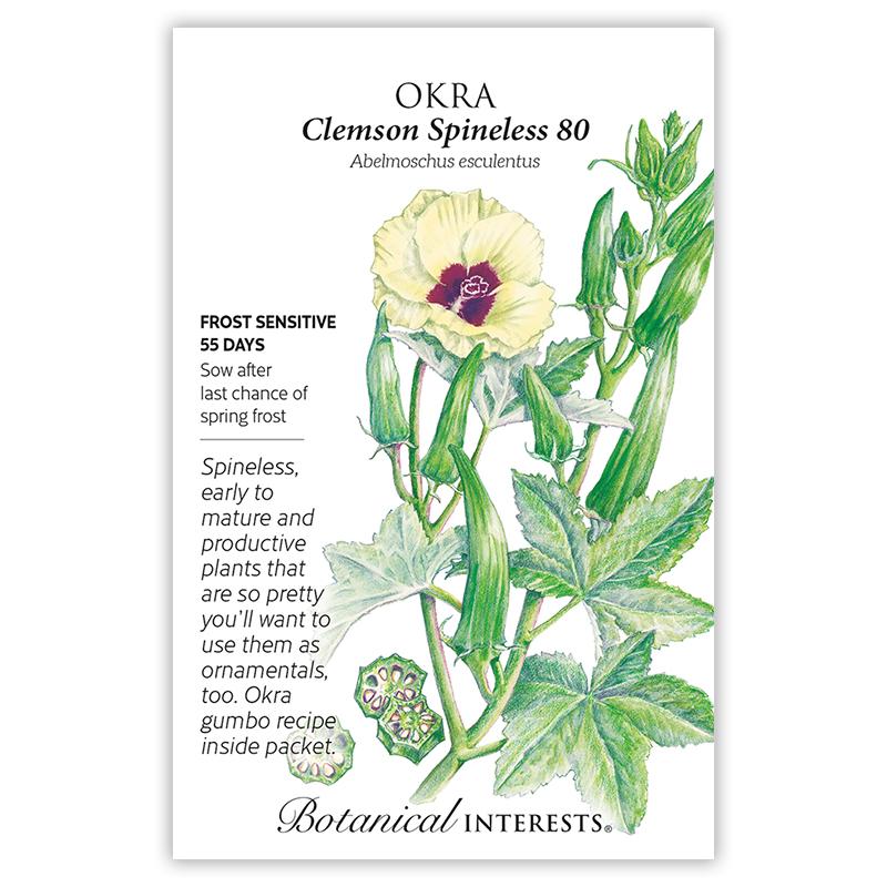 Clemson Spineless 80 Okra Seeds View All Vegetables Botanical