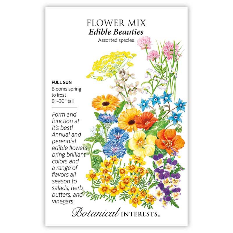 Edible beauties flower mix seeds view all flowers botanical interests edible beauties flower mix seeds tap to expand mightylinksfo