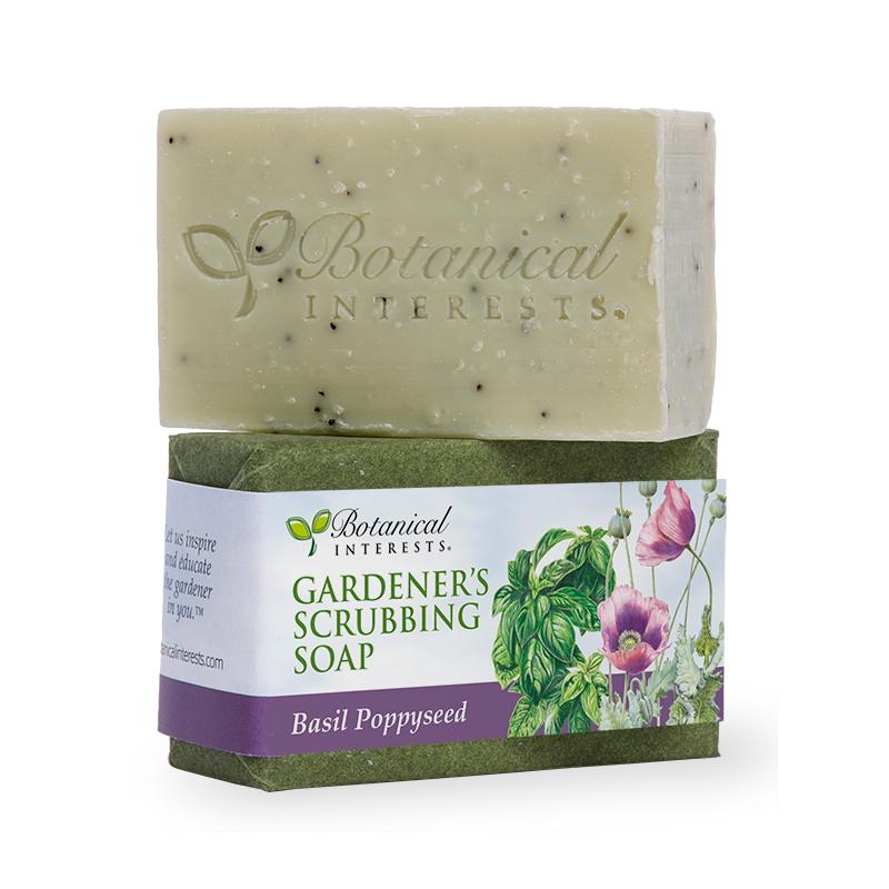 Basil Poppyseed Gardener's Scrubbing Soap