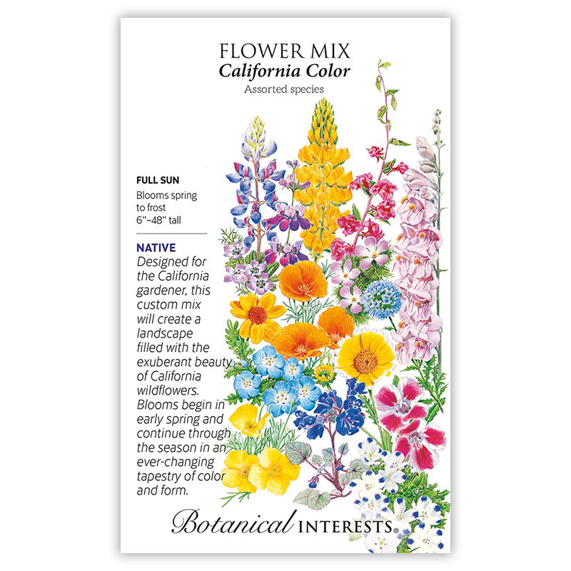 California Color Flower Mix Seeds View All Flowers Botanical