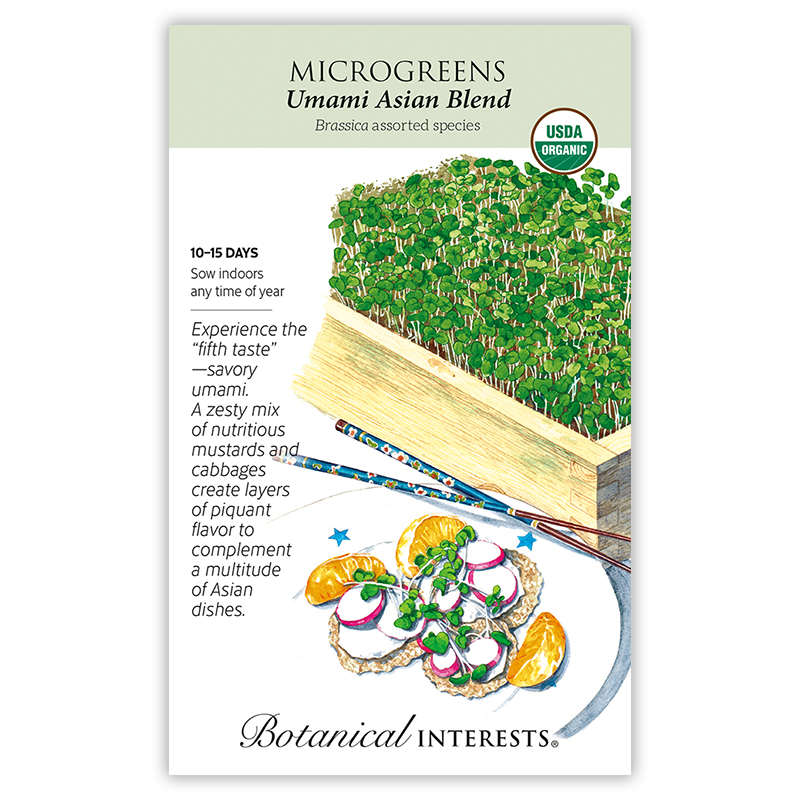 Umami Asian Blend Microgreens Seeds , View All Vegetables