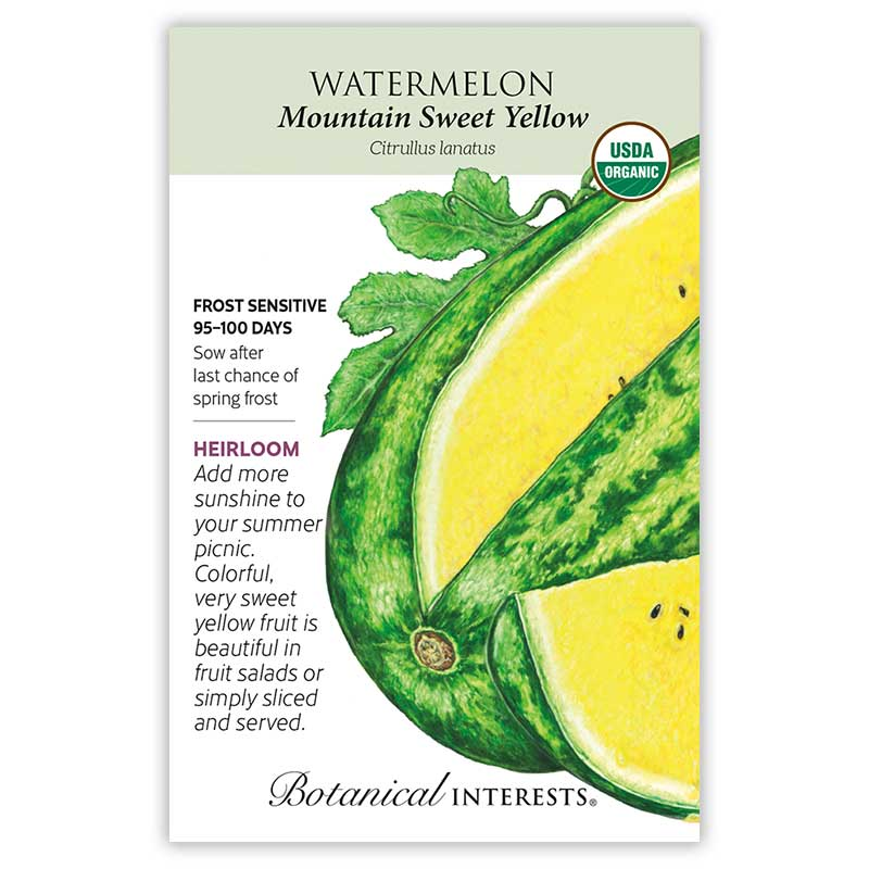 Mountain Sweet Yellow Watermelon Seeds