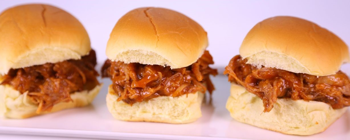 Tangy BBQ Pork Sliders