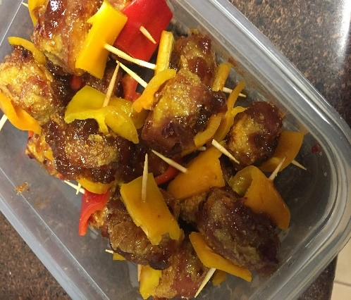 Mini Breaded Turkey Sausage Kebabs
