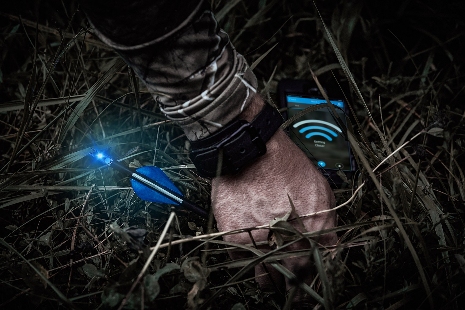 Breadcrumb Bluetooth Lighted Nock - Track your hunting arrow