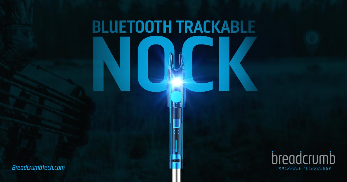 Trackable Bluetooth Lighted Nock - Breadcrumb