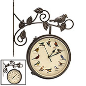Brecks 2-In-1 Singing Bird Clock & Thermometer