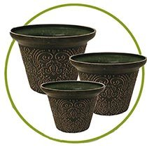 Damask Planters-Set of 3