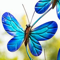 Blue Butterfly Wind Spinner