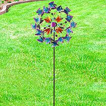 Butterfly Garden Wind Spinner