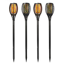 Solar Torch Lights - Set of 4