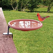 Deck-Mount Birdbath