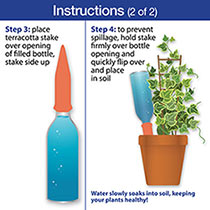 Terra-Cotta Watering Spikes - Set of 4