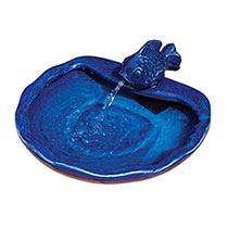 Solar-Powered Ceramic Koi Fountain