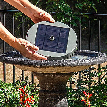 Solar Birdbath Fountain Kit.