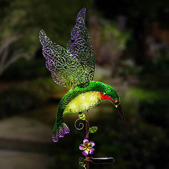 Solar Hummingbird Stake