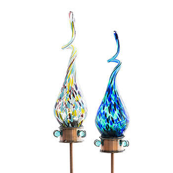 Solar Swizzle Glass Stakes–Set of 2