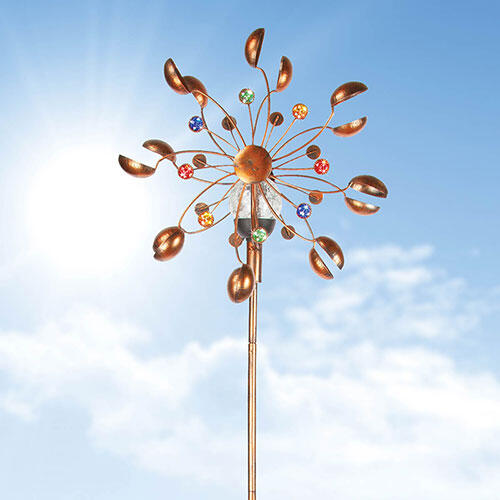 Solar-Powered Wind Spinner