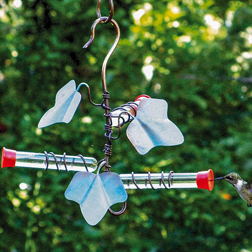 Copper Ivy Hummingbird Feeder