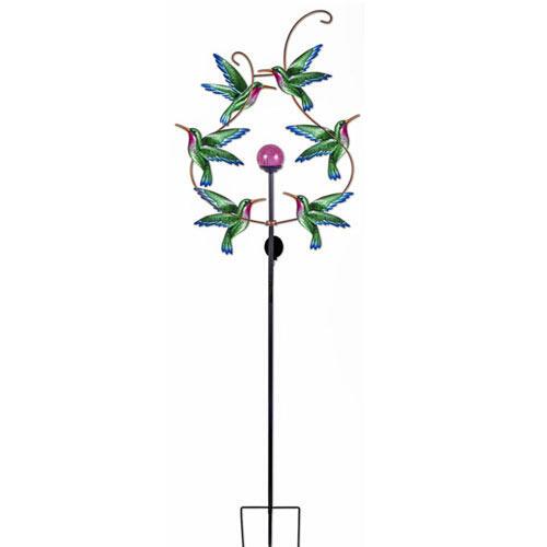 Solar Hummingbird Wind Spinner