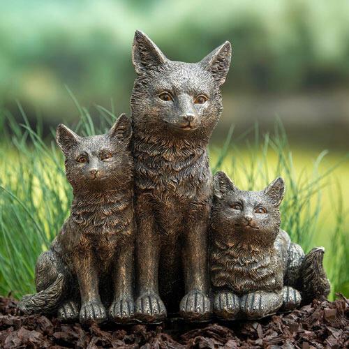 Fox Family Statue