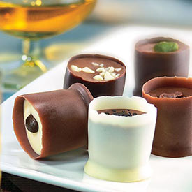 Spirit-Infused Belgian Truffle Cups Single and Set of 2