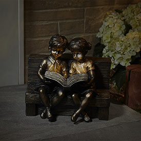 Read To Me Solar Statue