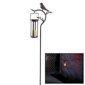 Bird Stake with Solar Lantern