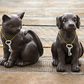 Dog and Cat Memorial Urns