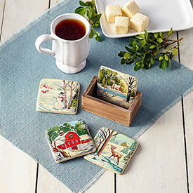 Nostalgic Coasters–Set of 4