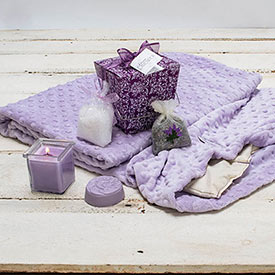 Aromatic Lavender Warming Blanket & Lavender Take Out Box