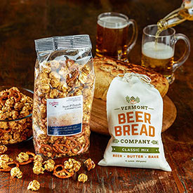 Beer Bread Mix & Stout Pretzels and Popcorn