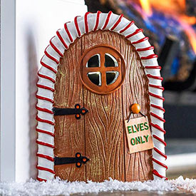 Candy-Striped Elf Door