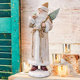 Woodland Santa Statue