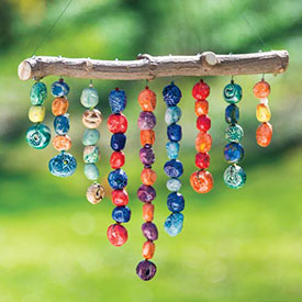 Handmade Hanging Bead Sculpture