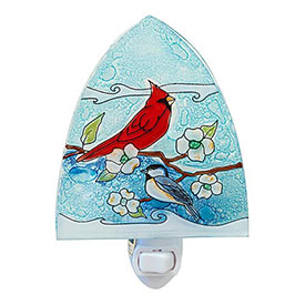 Songbirds Glass Nightlight