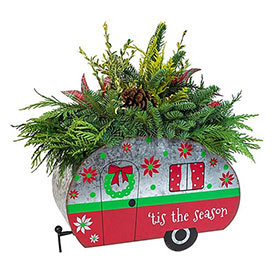 Holiday Camper Planter