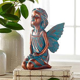 Patina Fairy Statue